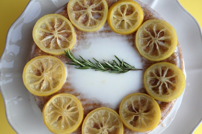 lemon rosemary olive oil cake from coffee & quinoa