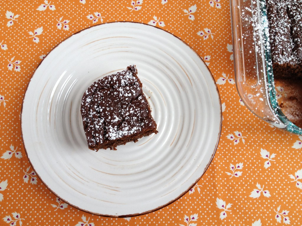 fudgy chocolate pumpkin cake from coffee & quinoa
