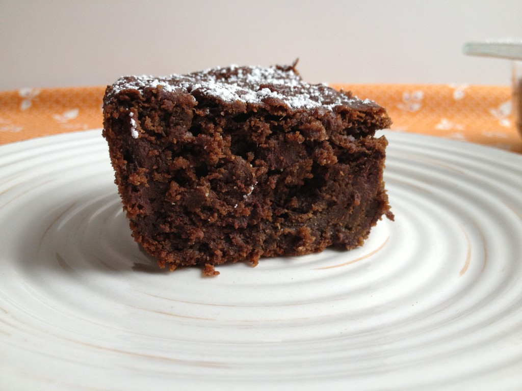fudgy chocolate pumpkin cake from coffee and quinoa