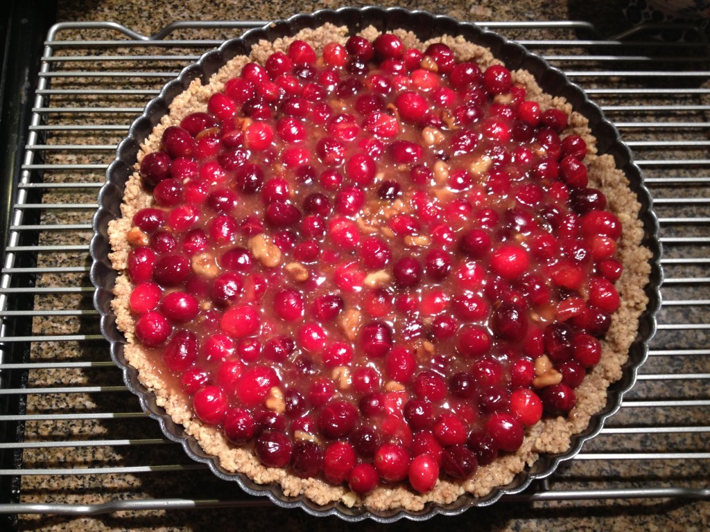 gluten-free cranberry orange tart from coffee & quinoa