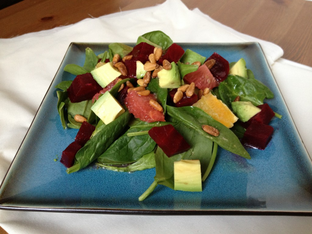 citrus beet salad with rosemary vinaigrette