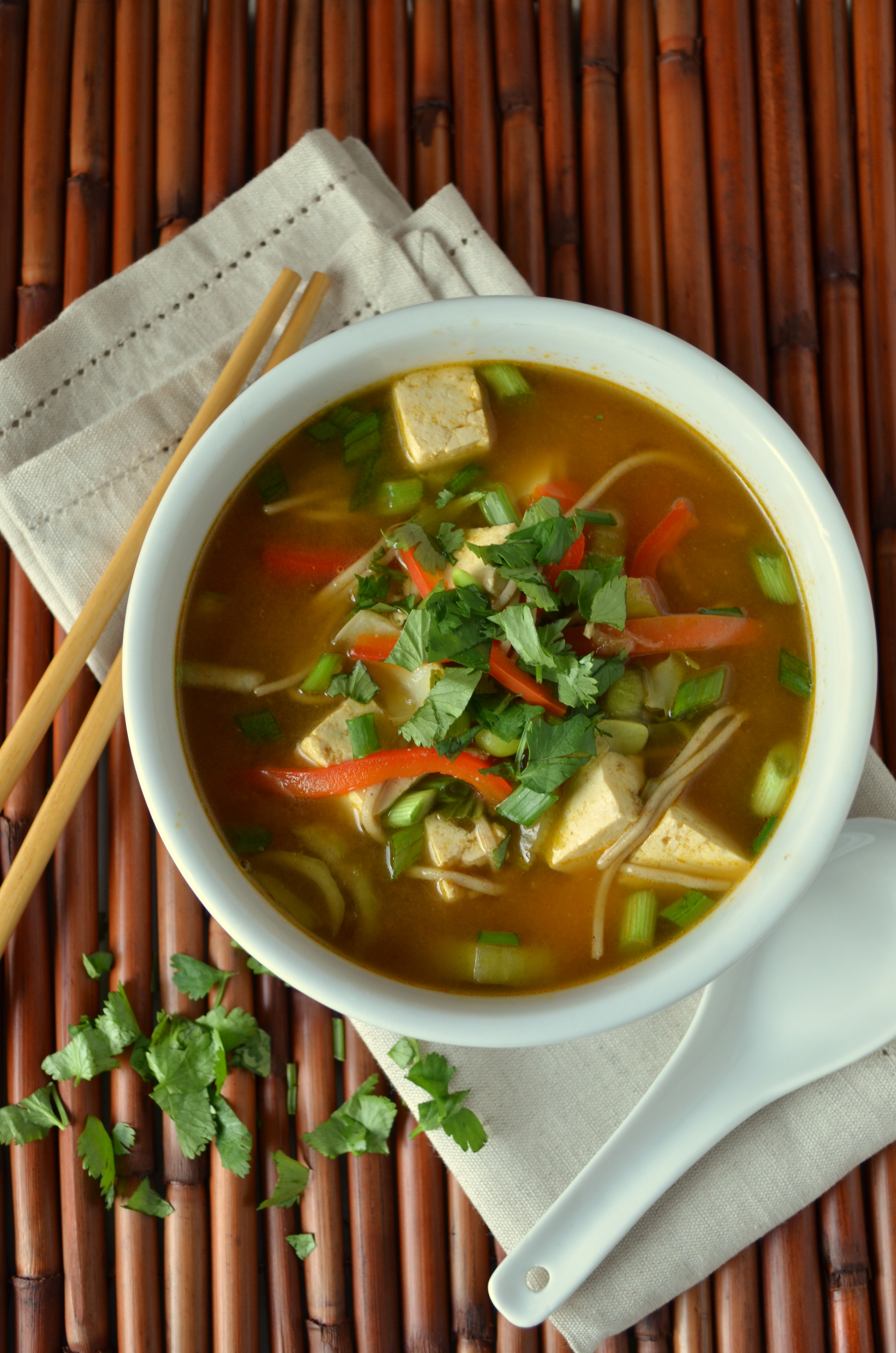 how to cook vegetarian noodles soup