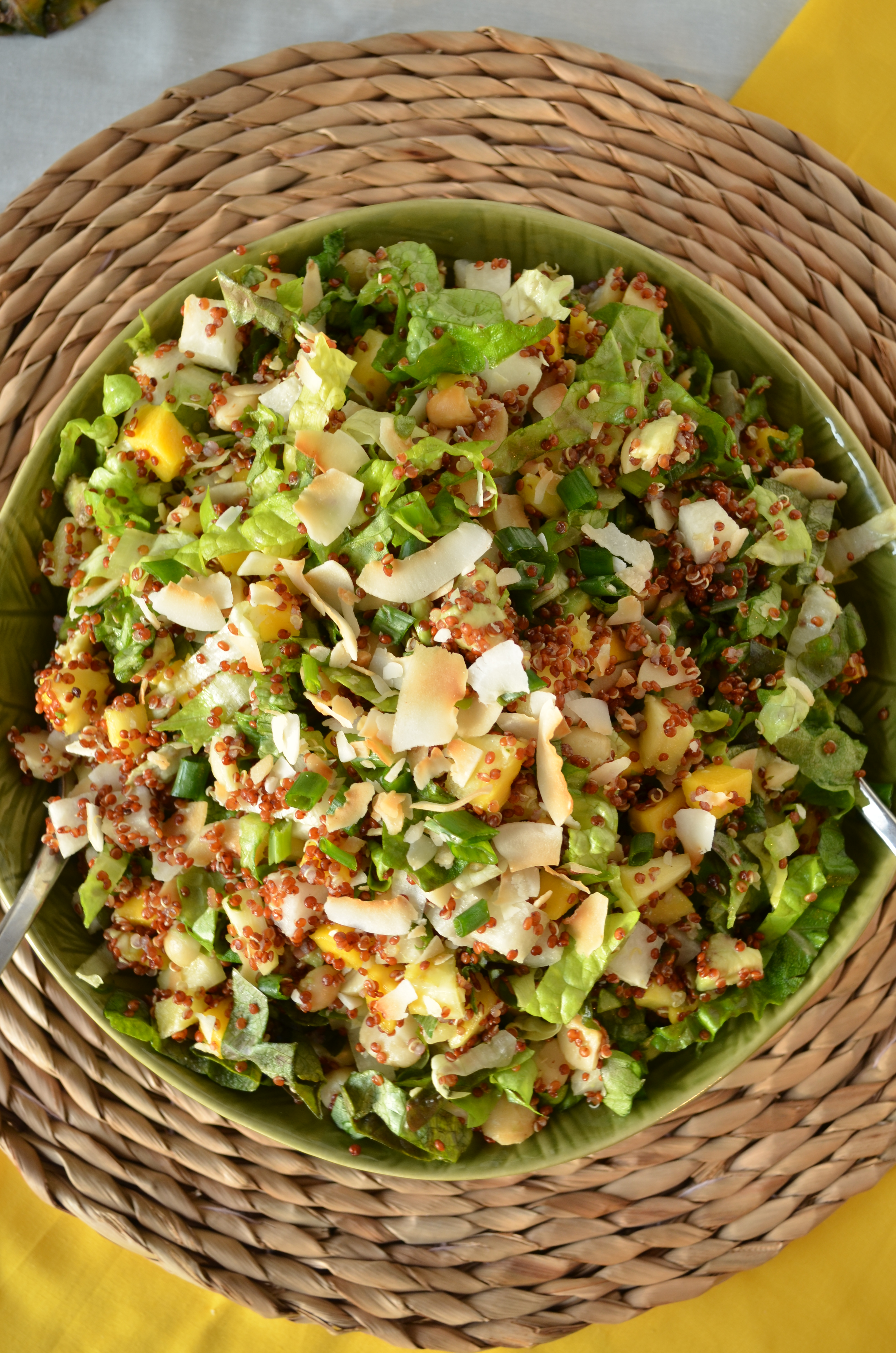 Tropical Chopped Salad with Mango, Pineapple, and Coconut