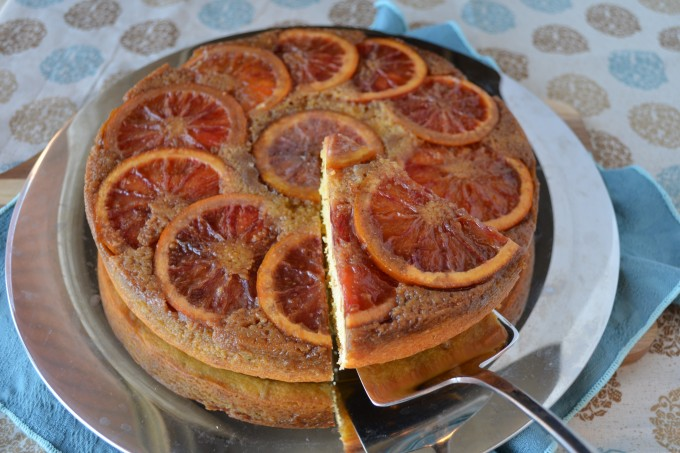 Blood Orange, Rosemary & Pine Nut Upside Down Cake | coffeeandquinoa.com