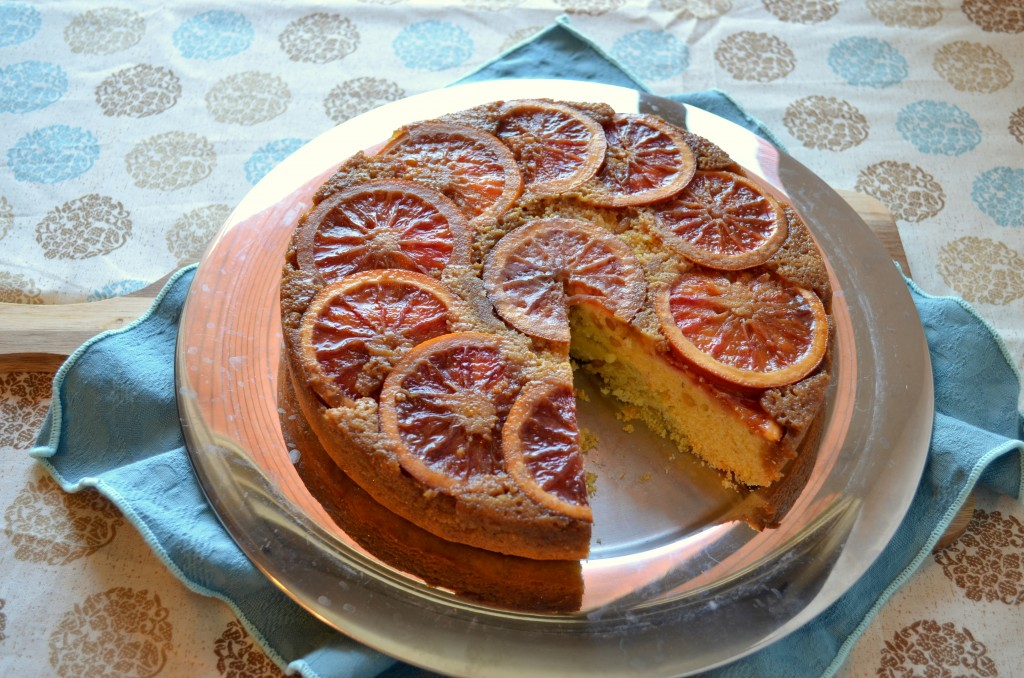 blood orange, rosemary & pine nut upside down cake