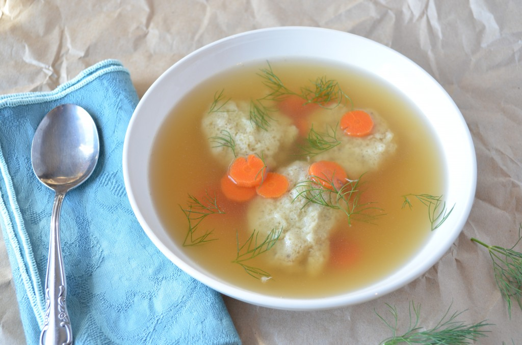 Vegetarian Matzo Ball Soup for Passover
