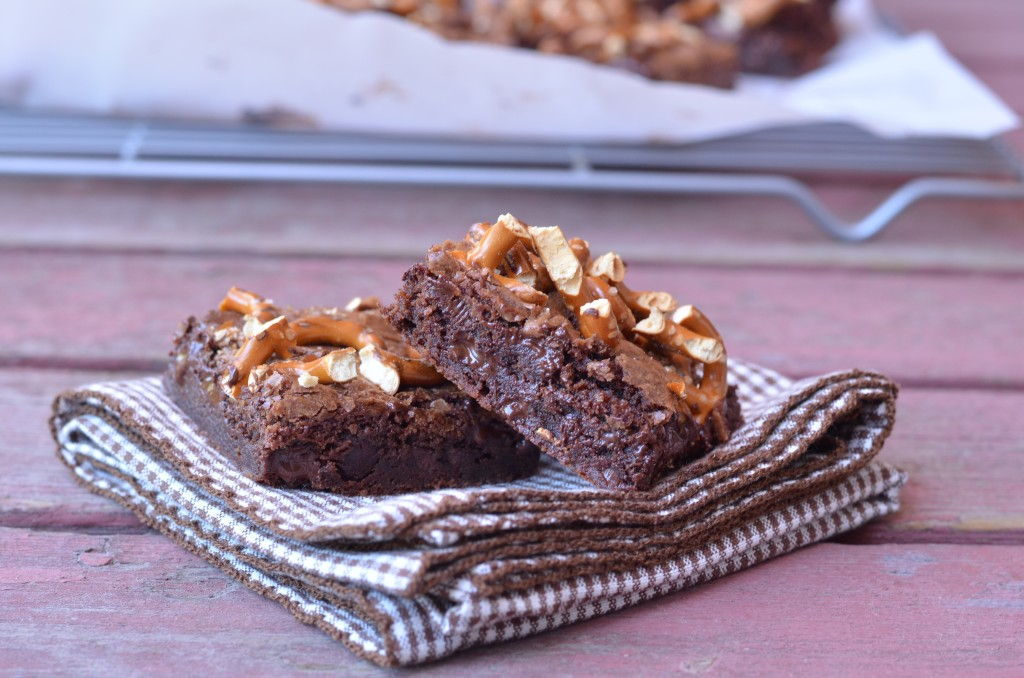 Outrageously Fudgy Pretzel Brownies