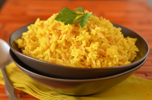 Yellow Rice Pilaf Recipe — Dishmaps
