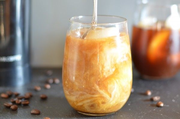 Cold-Brewed Maple Almond Iced Coffee from Coffee & Quinoa