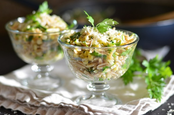 Orzo with Zucchini and Sweet Corn