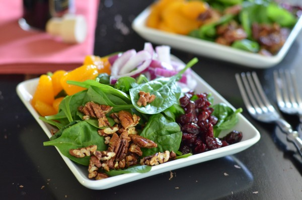 Super Sweet Spinach Salad from Coffee & Quinoa