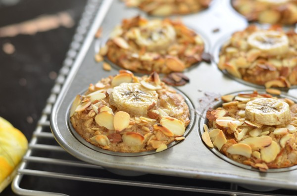 Banana Almond Baked Oatmeal Cups (Vegan) + a California Almonds ...