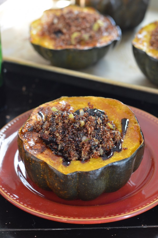 Quinoa-Stuffed Acorn Squash with Figs and Sage