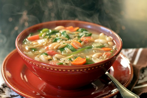 Easy Italian Orzo and White Bean Soup
