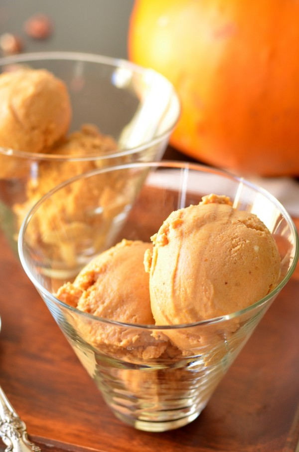 Pumpkin Maple Pecan Bourbon Ice Cream (Vegan)