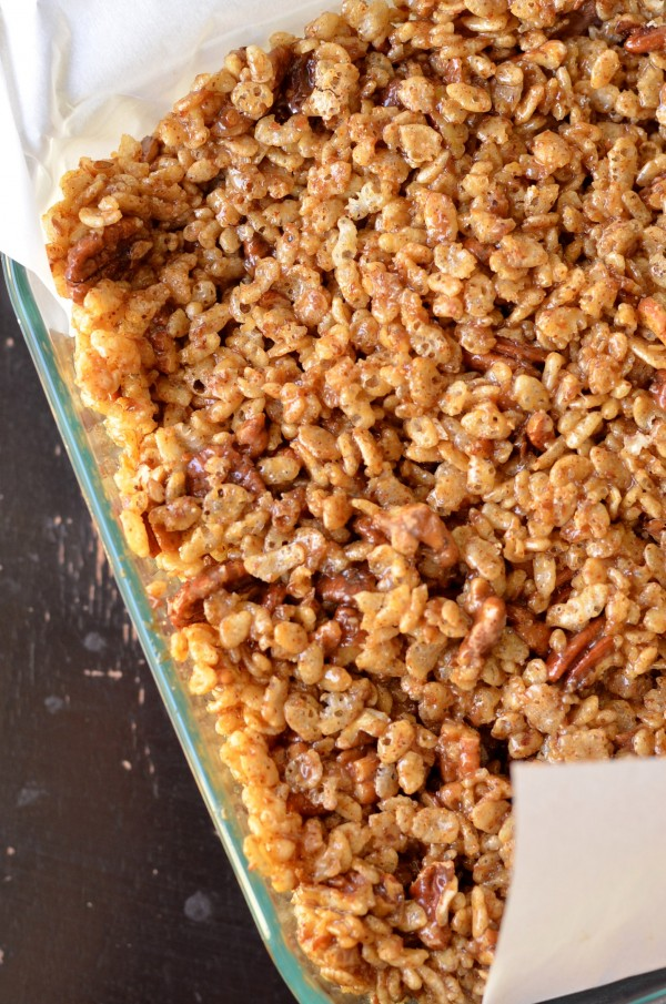 Pecan Pie Rice Krispie Treats (Vegan)