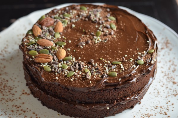 Fudgy chocolate beet cake with chocolate avocado frosting for Gluten free chocolate beetroot cake