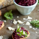 Beet Pesto Toasts