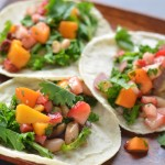 Kale and White Bean Tacos with Chipotle Fruit Salsa