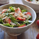 Spinach Salad with Strawberry Jam Vinaigrette | coffeeandquinoa.com
