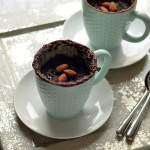 Salted Chocolate Almond Mug Cake - Vegan, GF, microwavable, and ready in 60 seconds!