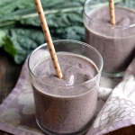 Blueberry Kale Stem Smoothie | coffeeandquinoa.com