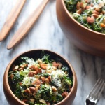 Shredded Kale and Brussels Sprout Salad | coffeeandquinoa.com